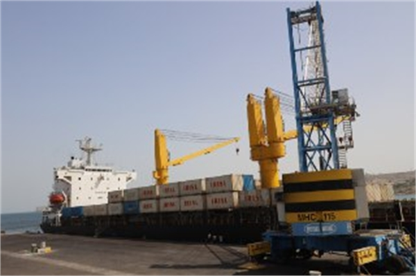 Indian container ship docks in Chabahar