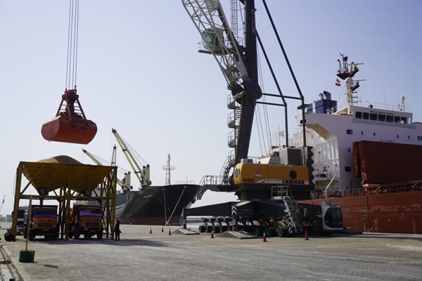 Chabahar Port handles 340,000 tons of staple within a month